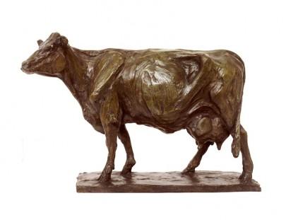 attentive  vache flamande  254 x 397 x 125