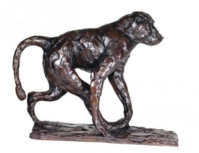 jeune babouin en marche  306 x 400 x 143  edition epuisee